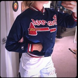 Jackets & Blazers - Blue Braves Varsity MLB Jacket